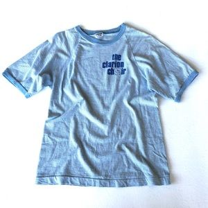 Vintage Blue Ringer Graphic Tee